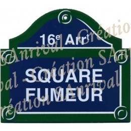 "plaque ""Paris"" - Square Fumeur"