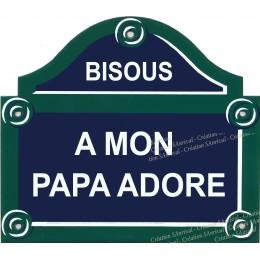 """plaque """"Paris"""" 15X13cm personnalisée"""