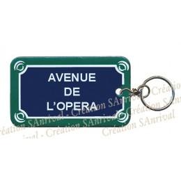 Porte-clefs de Paris en émail
