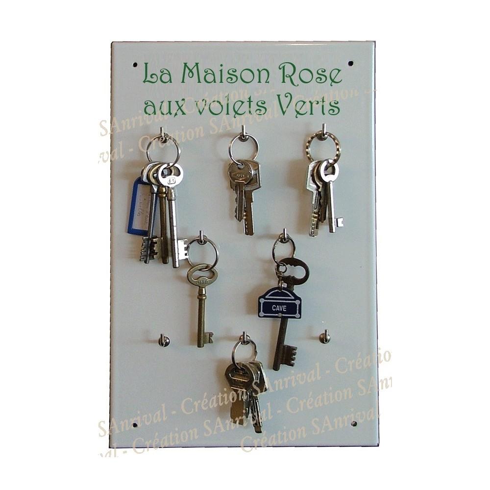 Armoire émaillée à clefs personnalisée à votre nom