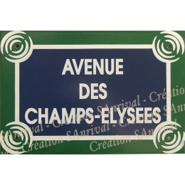 Plaque rectangle 30x20cm Champs Elysées