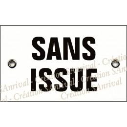 """Plaque émaillée 10x6cm """"Sans Issue"""""""