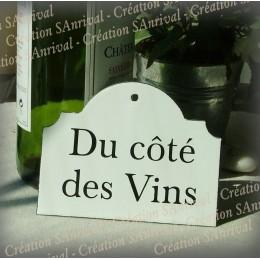 """Plaque émaillée retro """"du côté des Vins"""""""