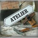 """Plaque émaillée """"Atelier"""""""