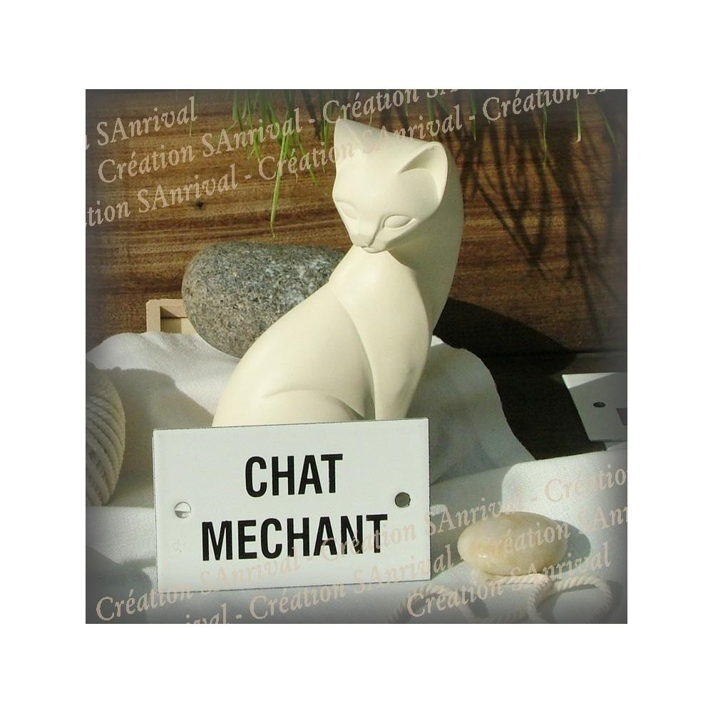 """Plaque émaillée 10x6cm """"Chat Méchant"""""""