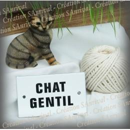 """Plaque émaillée 10x6cm """"Chat Gentil"""""""