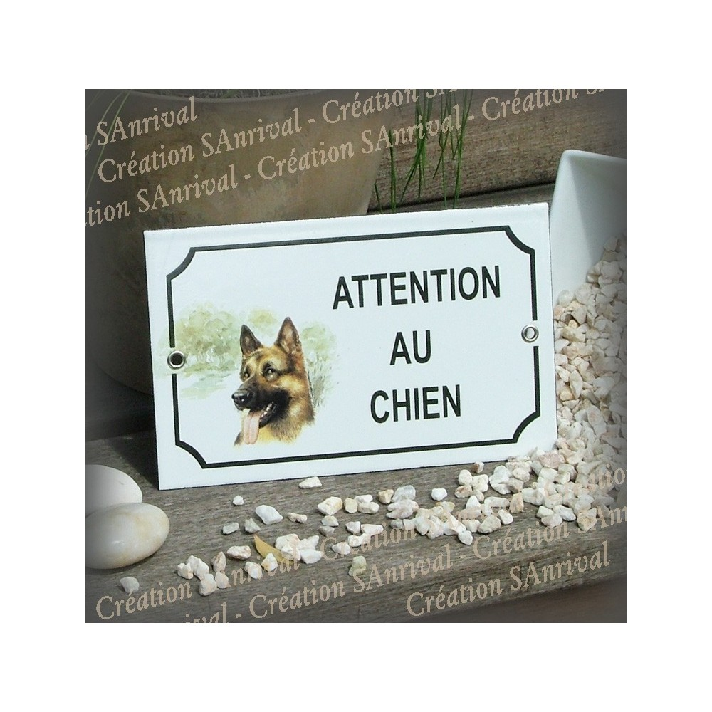Plaque attention chat