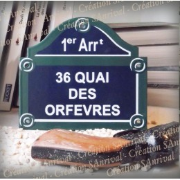 """plaque """"Paris"""" - 36 quai des orfevres"""