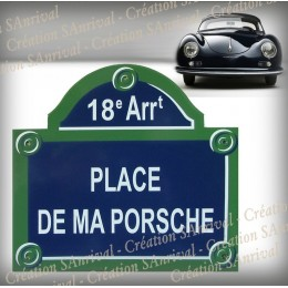 Your Enamel Plate of Paris 12x10.4in personalized in your name