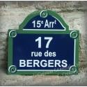 Votre Plaque de Paris 30x26cm personnalisée à votre nom