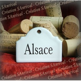 Little label in white enamel for your wine cellar : Alsace