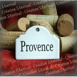 Little label in white enamel for your wine cellar : Provence