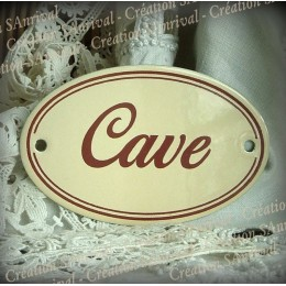 Ivory enamel plate : Cave