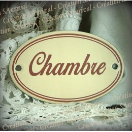 Ivory enamel plate : Chambre