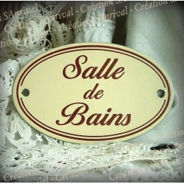 Ivory enamel plate : Salle de Bains