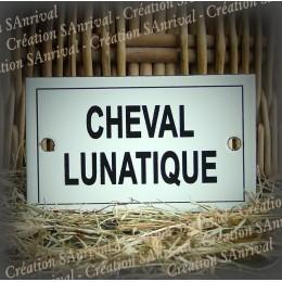 """Plaque émaillée 10x6cm """"Cheval Lunatique"""""""