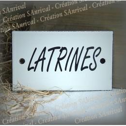 """Enamel plate """"Latrines"""""""