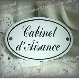 Plaques de porte ovale Cabinet d'Aisance