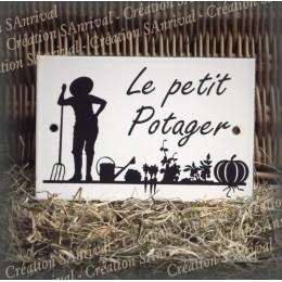 """Enamel plate """"Le Petit Potager"""""""