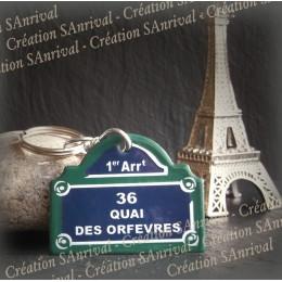 """Enamel """"Paris"""" plate - 36 quai des orfevres"""
