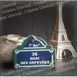 """Porte-clef """"Paris"""" - 36 quai des orfevres"""