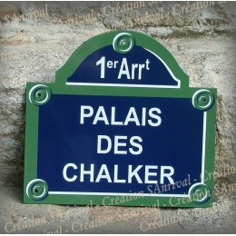 "Your Enamel Plate of Paris with ""arrondissement"" personalized in your name"