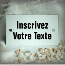 Plaque émaillée 10x6cm avec votre texte