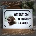 """Plaque émaillée """"Attention je monte la garde"""" 31 décors au choix"""