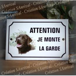 """Enamel plate """"Attention je monte la garde"""" 31 decor in choice"""