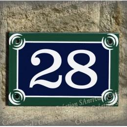 Numéro de rue 15x10cm style plaque de Paris