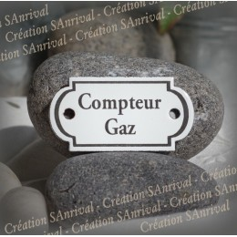 """Small enamel plate forms retro """"Compteur Gaz"""""""