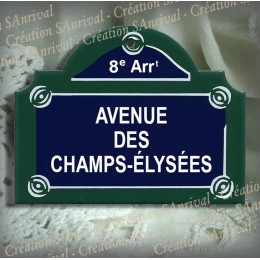 "Plaque ""Paris"" - Toilettes"