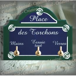 """plaque """"Paris"""" - Place des torchons"""