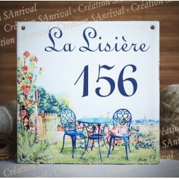 Home plate enamelled garden decoration 6x6in