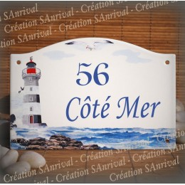 home sign enamelled Lighthouse decor 5,2x8in