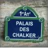 Plaque de Paris avec Arrt et 3 lignes personnalisées