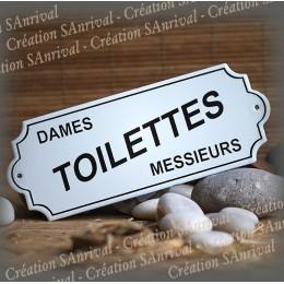 Enamel sign TOILETTES Dames-Messieurs