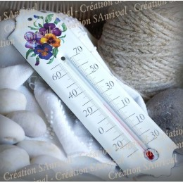 Enamel thermometer decoration flower