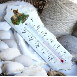 Véritable thermomètre en émail, fabrication 100% artisanale
