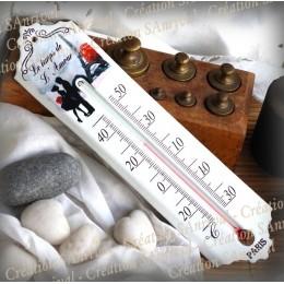 """Thermomètre émaillé """"Le Temps de l'Amour"""""""