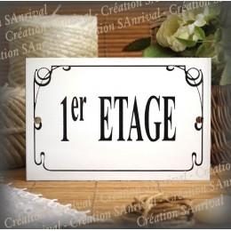 """floor Enamelled plate """"1er Etage"""""""