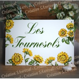 Ebamel Home plate sunflower decor Kastler font