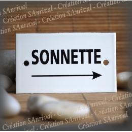 "Enamel plate ""Sonnette + flèche droite"""