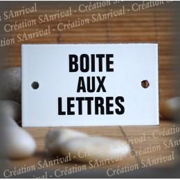 """Enamel plate """"Boite aux lettres"""""""