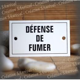 """Enamel plate """"Défense de Fumer"""" with border"""