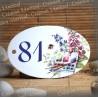 Numéro ovale émaillé décor palette