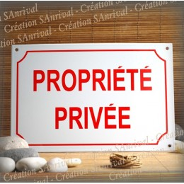 Big white enamel plate PROPRIETE PRIVEE