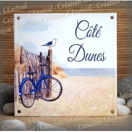 Home plate enamelled Dunes decoration, great vibes characters