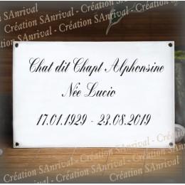 Plaque funéraire rectangle 22,5x15cm modèle 1