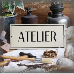 """Ivory Enamel plate""""ATELIER"""""""